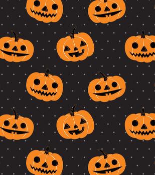 Maker's Halloween 60'' Round Tablecloth-Jack-o'-lantern Pumpkins