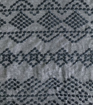 Cotton Embroidered Chambray Fabric 56''-Navy