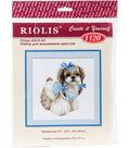 RIOLIS 9.75\u0027\u0027x9.75\u0027\u0027 Counted Cross Stitch Kit-Shih Tzu