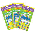 Playful Pets Stickers Variety 2000 Per Pack, 3 Packs