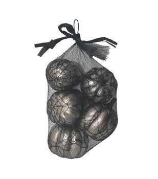 Maker's Halloween 8 pk Pumpkins in Lace Bag-Silver