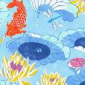 Waverly Sun N Shade Fabric 9\u0022x9\u0022 Swatch-Lotus Lake Cobalt