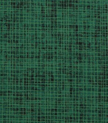 "Harvest Cotton Fabric 44""-Green Harvest Cross Hatch"