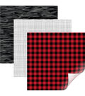 Cricut Removable Matte Patterned Vinyl Samplers-Rustic Lodge Lumberjack