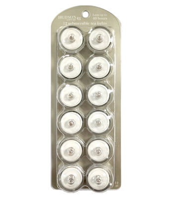 Hudson 43 Candle & Light 12 pk Submersible Tealights