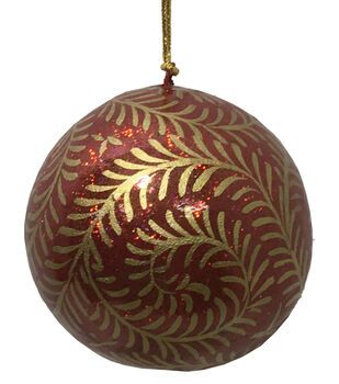 Handmade Holiday Christmas Crimson Traditions Paper Ball Ornament