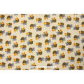 Blizzard Fleece Fabric -Honeycomb Chubby Bee