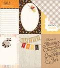Hello Fall Double-Sided Cardstock 12\u0022X12\u0022-4\u0022X6\u0022 Journaling Cards