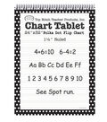 Top Notch Teacher Products Chart Tablet, Ruled, Polka Dot, 25 Sheets