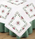 Tobin 6 pk 18\u0027\u0027x18\u0027\u0027 Stamped White Quilt Blocks-Rose Vine