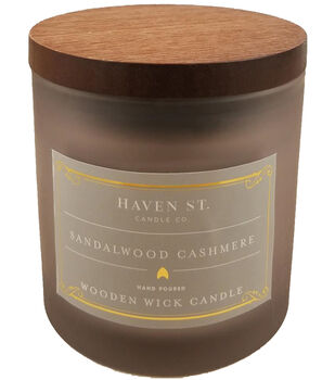 Haven St. Candle Co. 5 oz. Sandalwood Cashmere Scented Jar Candle