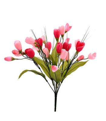 Fresh Picked Spring 18'' Crocus Bush-Pink