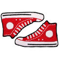 Simplicity 2 pk High Top Sneaker Iron-on Appliques-Red