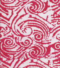 Batik Cotton Fabric-Pink & White Spiral Batik