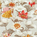 Home Decor 8\u0022x8\u0022 Fabric Swatch-P/K Lifestyles Lotus Dreams Cinnabar