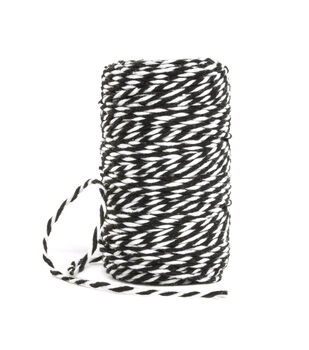 Park Lane Twine-Black & White