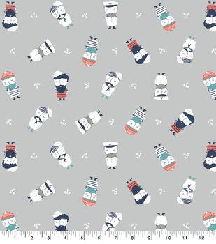 Super Snuggle Flannel Fabric-Mr. Sailor Tossed