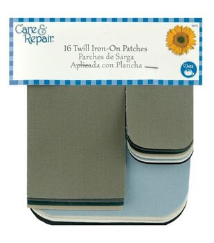 Dritz Care & Repair Twill Iron-On Patches-16/Pkg