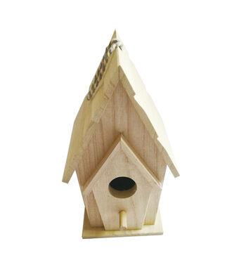 Birdhouse-Lg 2 Roofs Wood