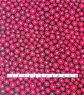 Stretch Crepe Knit Fabric 58\u0022-Red Black Mini Poppoes