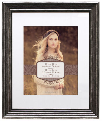 Wall Frame 16X20 Mat To 11X14-Pewter
