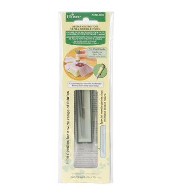 Clover Felting Tool Refill Needles 5Pcs Heavy Weight