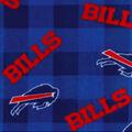 Buffalo Bills Fleece Fabric-Buffalo Plaid