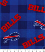 Buffalo Bills Fleece Fabric-Buffalo Plaid, , hi-res