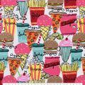 Snuggle Flannel Fabric-Junk Food Frenzy