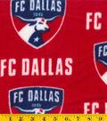 FC Dallas Fleece Fabric 58\u0022-Logo