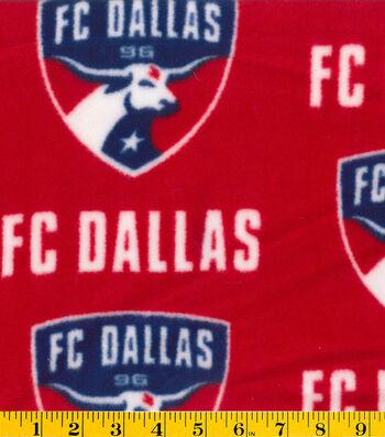 "FC Dallas Fleece Fabric 58""-Logo"
