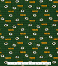 Green Bay Packers Cotton Fabric 58\u0022-Mini Print