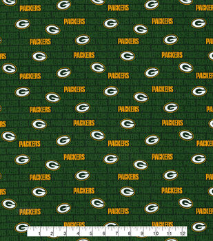 Green Bay Packers Cotton Fabric -Mini Print