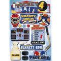 Karen Foster Hockey Cardstock Stickers Hockey 4 Life