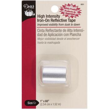 "Dritz 1"" x 60"" High Intensity Iron-On Reflective Tape Grey"