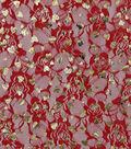 Spring Lace Fabric 31\u0022-Foil Hearts