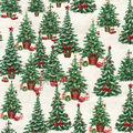 Christmas Cotton Fabric-Christmas Trees with Presents