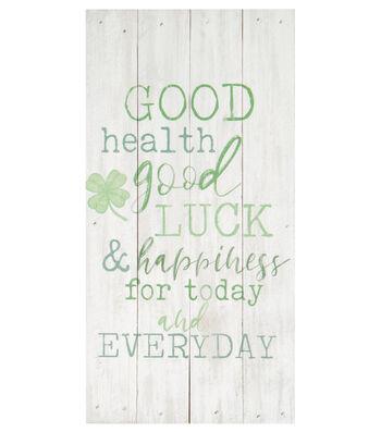 St. Patrick's Day Decor Pinewood Frame Wall Decor-Good Health