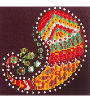 "Diamond Embroidery Facet Art Kit 9.7""X9.7""-Paisley Groove"