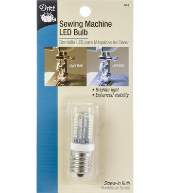 Dritz Sewing Machine LED Screw-In Light Bulb-Clear with Screw-In Base