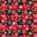 Christmas Cotton Fabric-Snowflake Buffalo Plaid Glitter