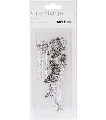 "Timeless Clear Stamps 2""X5"" (5cm X 13cm)-Botanical"