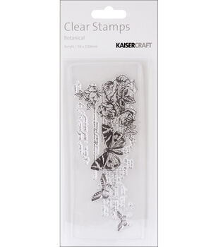 """Timeless Clear Stamps 2""""X5"""" (5cm X 13cm)-Botanical"""