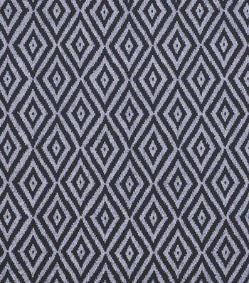 Sportswear Apparel Stretch Twill Fabric 57''-Navy Geometric Diamond