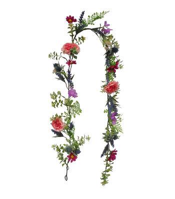 Fresh Picked Spring 66'' Mixed Wildflower Garland