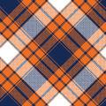 Blizzard Fleece Fabric-Navy & Orange Annie Plaid
