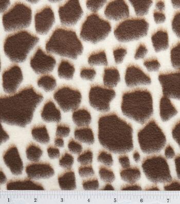 "3 Yard Pre-Cut Anti-Pill Fleece Fabric 59""-Giraffe"