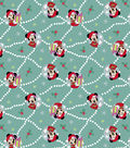 Disney Minnie Mouse Christmas Knit Fabric-Teal