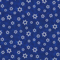 Star of David Cotton Fabric with Glitter