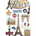 Paper House 4.5\u0027\u0027x8.5\u0027\u0027 3D Stickers-Discover Paris